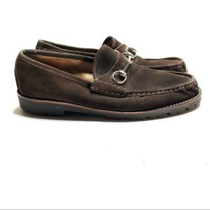 VTG Gucci horsebit brown suede loafers size 10.5